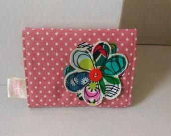 Spotty, applique coin purse, wallet