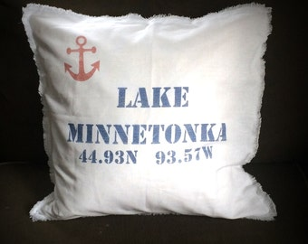 Customized Lake Feather Pillow