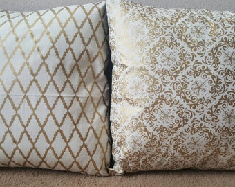 Gold & Black Pillow Cover Collection