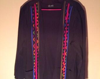 Vintage Black Blazer Size Large