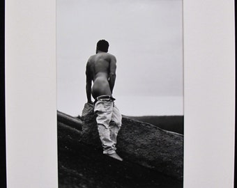 "Erotic Male Photography by Ed Cox - Jason ""Touching the Summit"" 11x14 - 1996"
