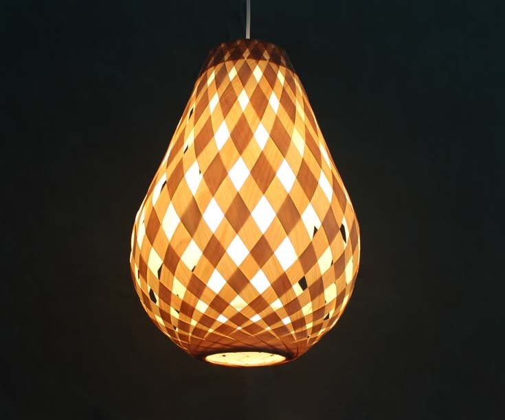 New Creative Wooden Paper And Parchment Pendant Lights Decor