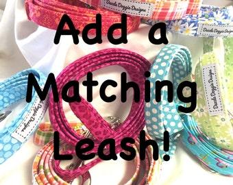 Dog leash, matching leash, fabric leash, nylon webbing, puppy leash, handmade,