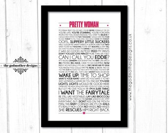 Pretty Woman - Movie - Quotes & Words Typography - PRINT