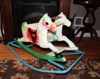 Adorable Shoo Fly Wonder Horse Vintage Spring Horse Rocker Seat Nursery Decor
