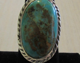 Sterling Silver and Turquoise Ring Size 7 1/2