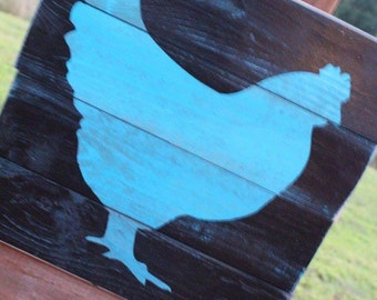 Wooden Rooster sign