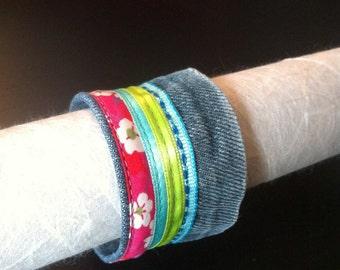 Bracelet flower jeans LOOK-A