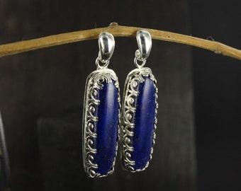 Lapis lazuli earrings - Dangle earrings - Egyptian earrings - Handmade