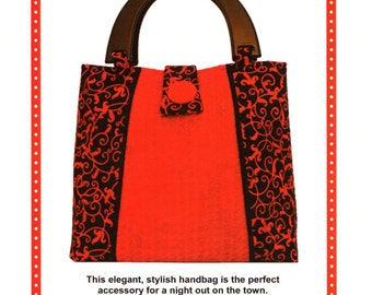 Tote Purse Pattern - On the Town - Textured Fabric Instructions  - PATTERN ONLY