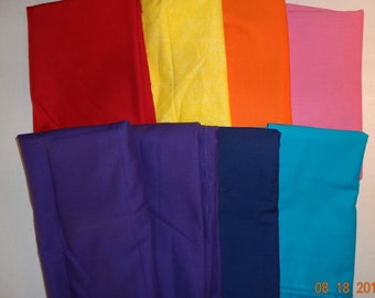 Rainbow of Colors - Assorted Pieces of Cotton Fabric