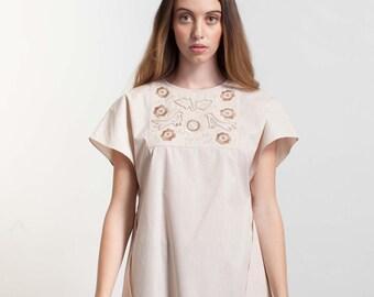 Dress - Womens dress - Cotton dress - Summer dress -Loose dress -Tunic dress -Short sleeve dress -Sundress -Comfy cotton dress -Casual dress