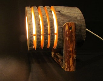 rustic spotlight from Kelo wood - woodlamp 2