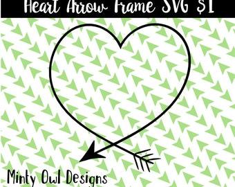 Cricut SVG - Heart Arrow Frame SVG Cut File - Arrow - Tribal - Boho - Wall Decor - Cutting Files - Silhouette
