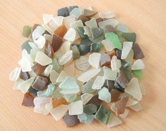 Sea glass in assorted colours