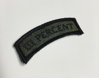 III PERCENT Tab Patch - OD Green