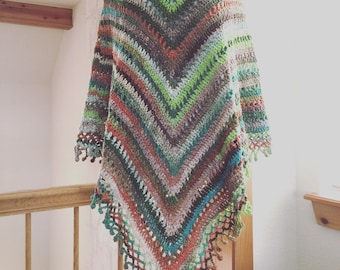 Made-to-Order Women's Wool/Silk/Cotton Yarn Crochet Poncho - Custom - Choose Your Colors