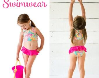 NEW Kids Monogram Swimsuit