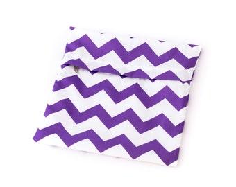 Cloth Pads Wetbag - Purple/White Chevron
