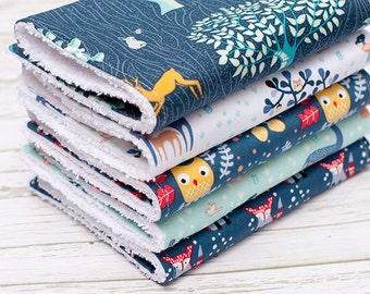 Baby Burp Cloths Set of 5, Baby Gift, Baby Shower Gift, Newborn Burpcloths, Gender Neurtal Burpcloths, Burpcloths