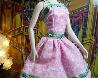 Dress for Barbie Silkstone & Fashion royaltie outfit  ooak par ma doll of dawn