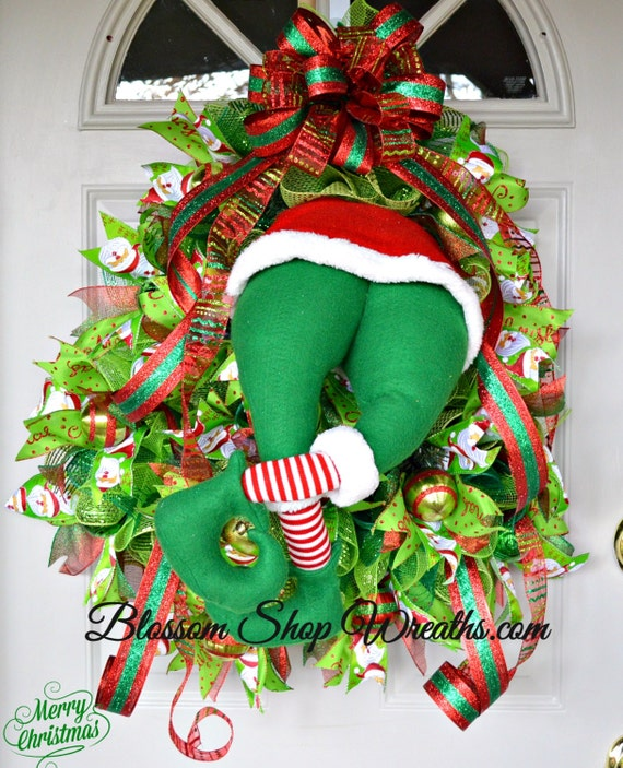 wreath sale christmas wreath deco mesh by blossomshopwreaths. Black Bedroom Furniture Sets. Home Design Ideas