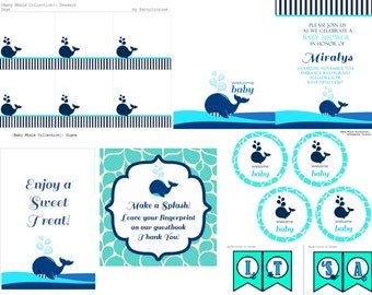Baby Whale Printables Collection