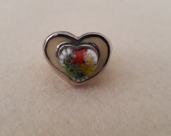 Millefiori Ring  (Murano art glass) Size 6