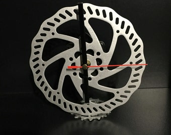 Recycled bicycle parts clock