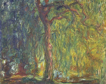Weeping Willow by Claude Monet, Giclee Canvas Print, in various sizes