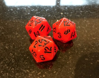 Red UV reactive D20