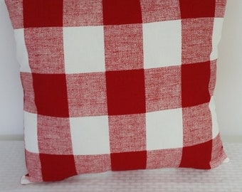 Red pillow cover, pillow cover, Holiday pillow cover, red check pillow, Christmas pillow cover,holiday pillow, Pillow cover