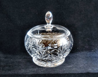 Covered Candy Bowl Cristal D'Arques Lead Crystal