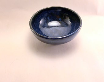 Prep Bowl with Semi-Gloss Bue Glaze, Ready to Ship