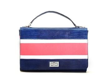 Leather handbag, handmade designer bag