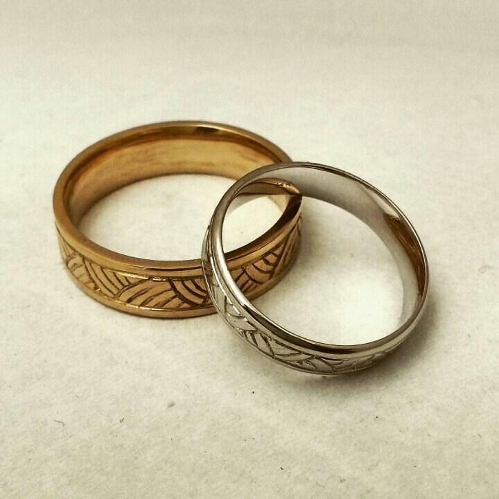 14 Karat Bands: Yellow Gold Wedding Ring 14 Karat Solid Gold Wedding Band For