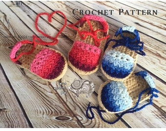 Ombrè Espadrilles - Instant Download PDF CROCHET PATTERN
