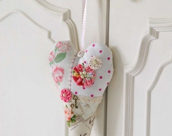 Romantic French Heart Sewing Pattern Download 803069