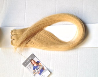 """26""""-28"""" Authentic Cuticle Remy Human Hair Straight Weft Extensions Light Blonde Champaign Natural Blonde Sew-in Tape Glue Extra Super Long"""