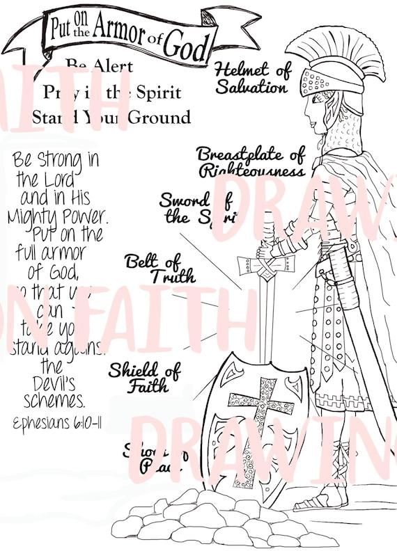 Armor of God Printable Downloadable File You Print It
