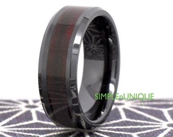 Black Ceramic Mens Wedding Band Mens Ring Ceramic Rings