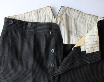 Sz. 35x28: Early 1900's trousers black and gray stripe