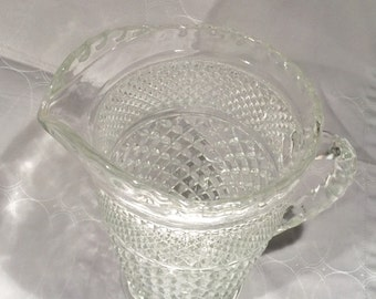Wexford Tea Pitcher Anchor Hocking Clear Glass 64 oz Water Pitcher Vintage Glass Pitcher