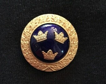 CC Sporrong & Co Tre Kronor Three Crown Brooch / Pin