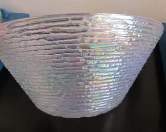 Vintage Anchor Hocking SorenoTranslucent Large Glass Serving Bowl