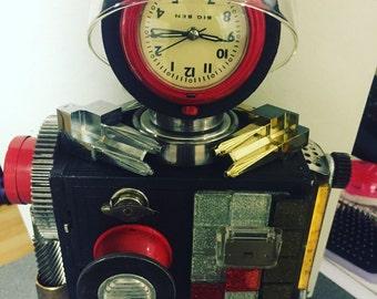 Found object junk art robot sculpture
