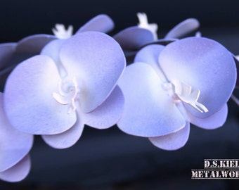 Metal Orchid, 11th Anniversary, 6th Anniversary, 4th Anniversary, Mother's Day, Purple Orchid, Metal Flower