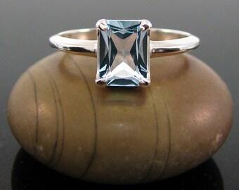 Sky blue topaz ring, Topaz December Birthstone Ring, Blue topaz ring size 5 6 7 8 9 10 11 ring - sterling silver topaz ring topaz