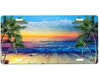 Beach Scene License Plate