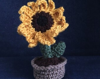 Crocheted Little Sunflower